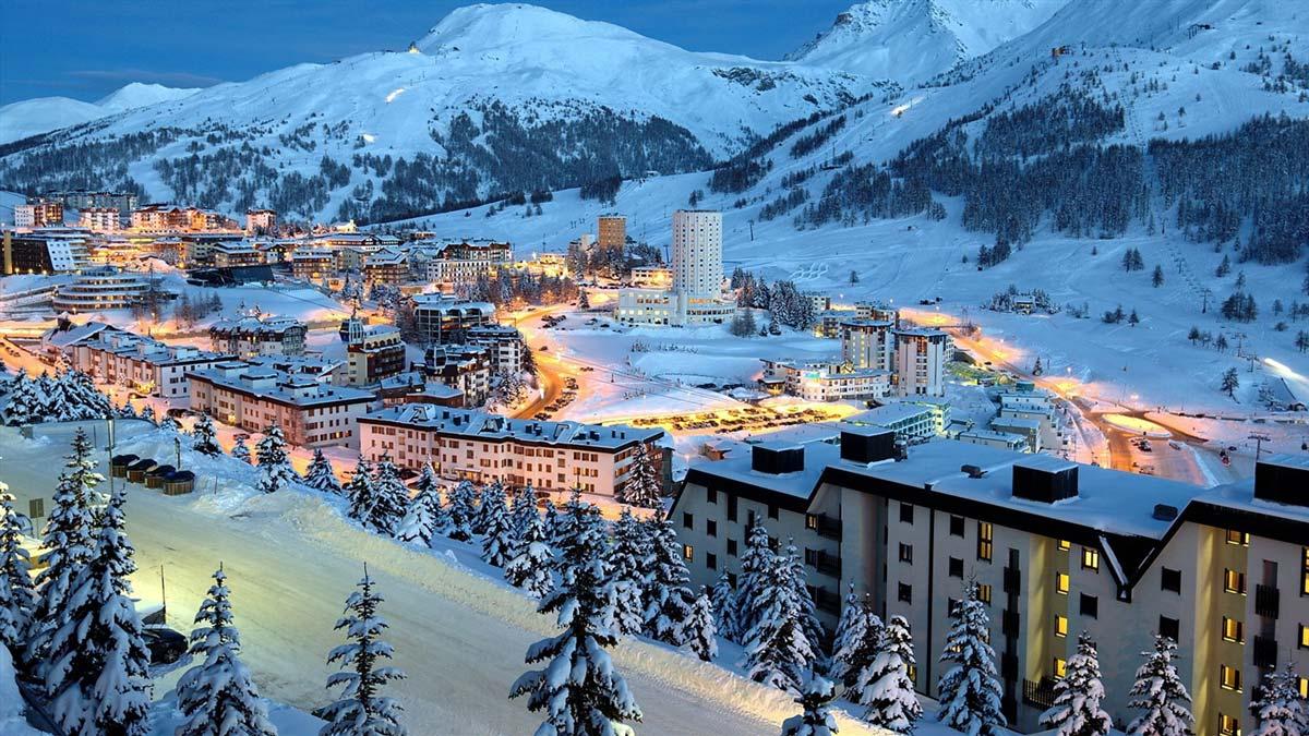 Горные лыжи европа новый год